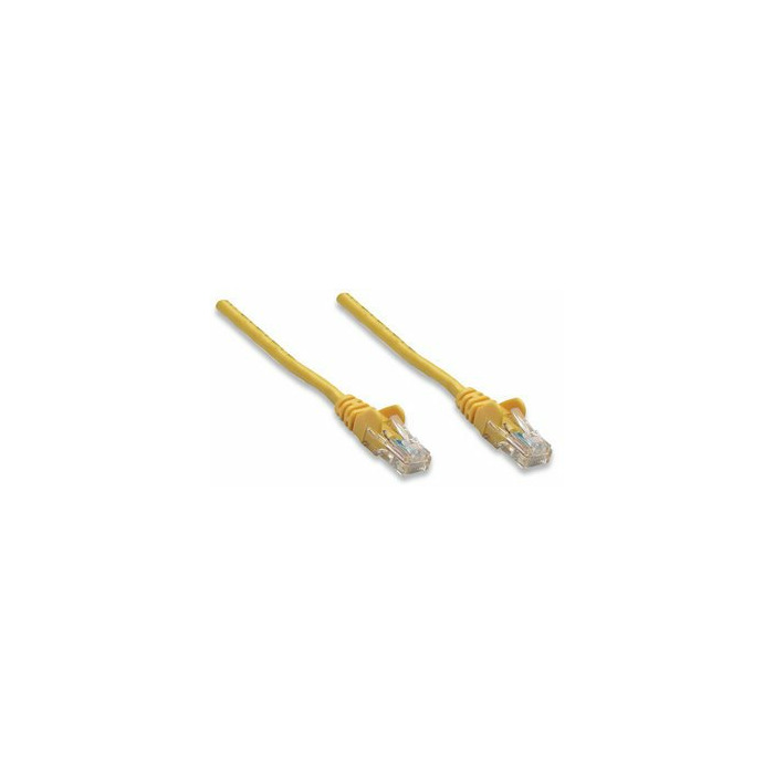 Intellinet RJ-45, M/M, 1m networking cable Cat5e Yellow
