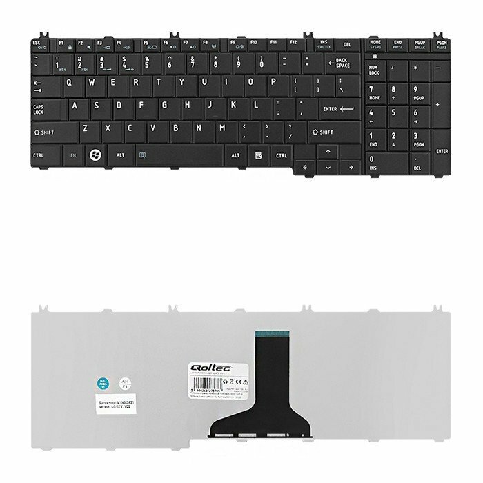 Qoltec 7578.TH-L650B Black keyboard