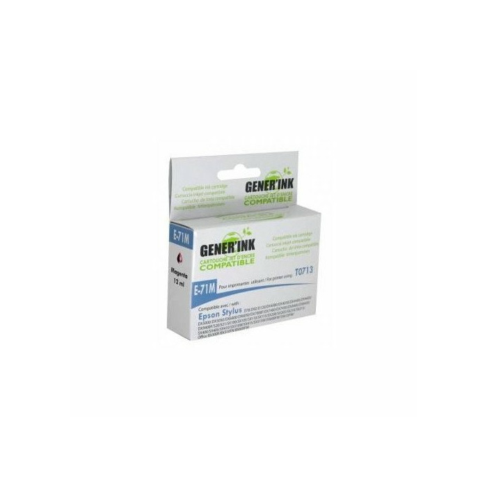 Tintes kasete GenerInk Epson T0713M Magenta D78/DX4000/5000/6000 12ml