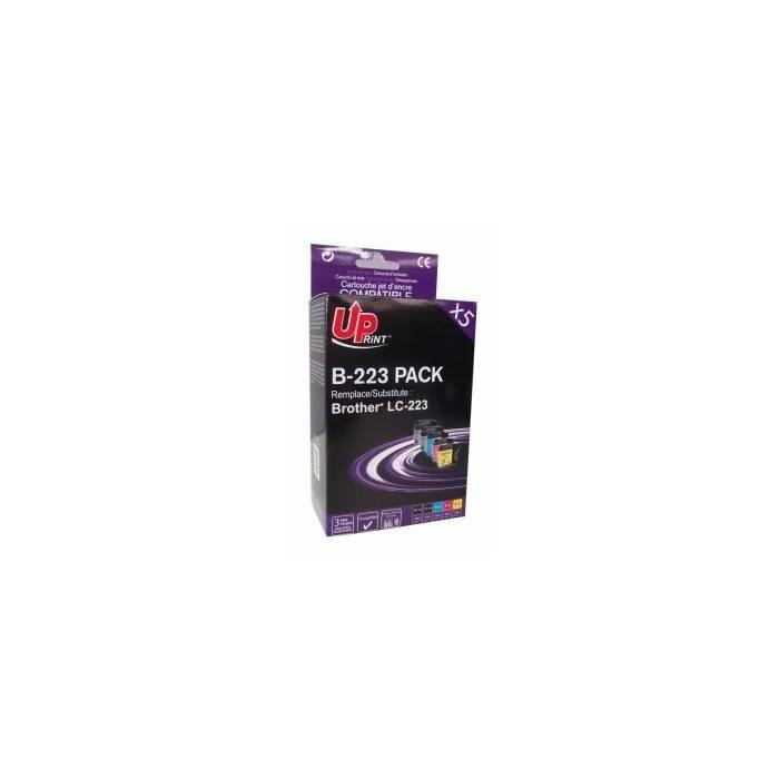 Tintes kasete UPrint Brother LC223 PACK 2X18ml Black+ 3X8ml C/M/Y