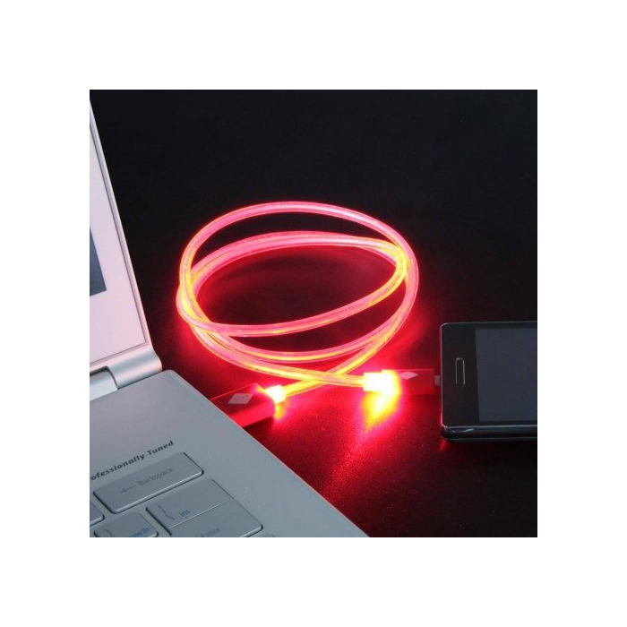 CABLE USB LUMINOUS Iph6/6s red 1m