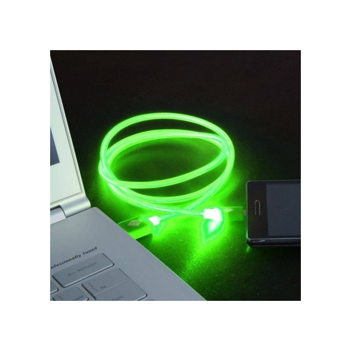 CABLE USB LUMINOUS Iph6/6s green 1m