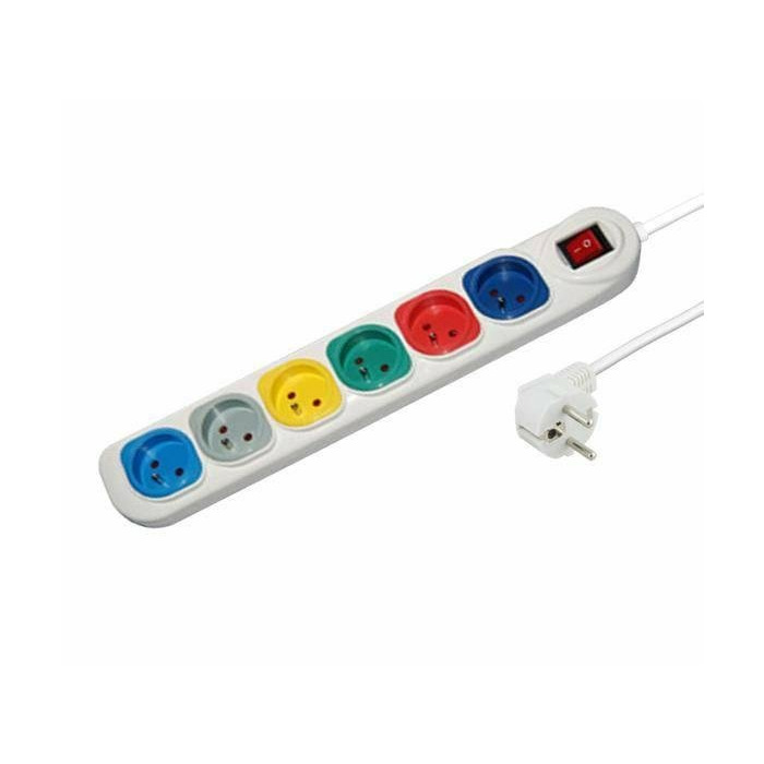 ESPERANZA RAINBOW Power Strip | 6 Sockets | Switch |Security | Cable 1.5 m |