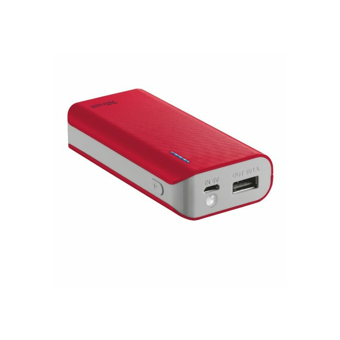 Trust Primo 4400 power bank Red 4400 mAh
