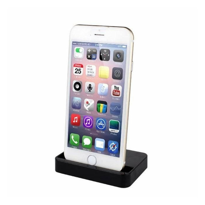 promo code 20a51 d0a02 HQ Lightning to Lightning Table Stand Charging Dock Station for iPhone 6/6S  Plus Black (MGRM2ZM/A)