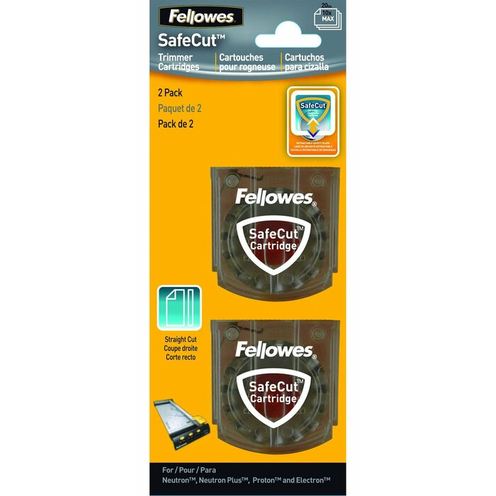 Fellowes SafeCut Replacement Blades - 2 Pack paper cutter accessory