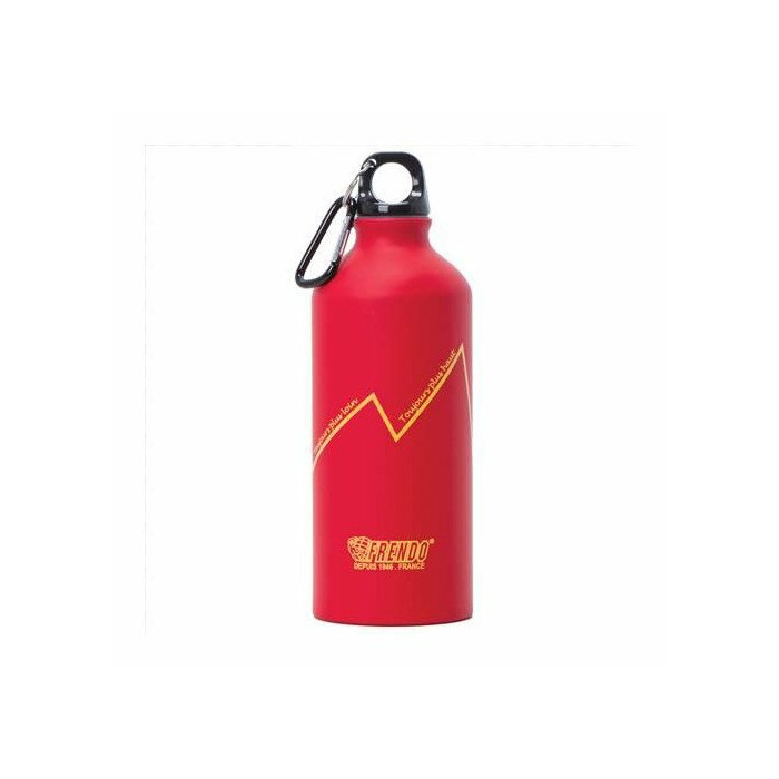Frendo Rainbow aluminium water bottle 0.6L with carabiner, Red
