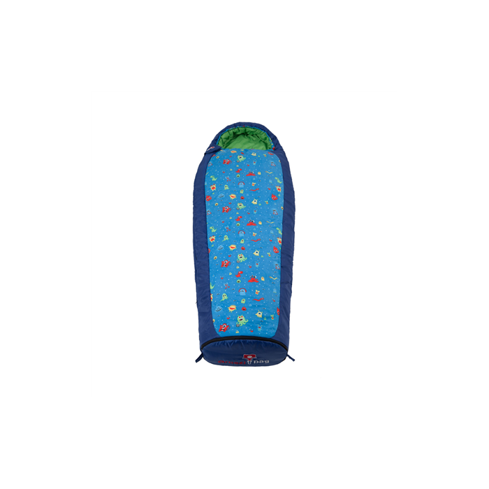 Gruezi-Bag Kids Monster Grow, Sleeping bag, 140-180x65(45) cm, Left side