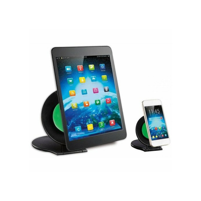 Techly Set of two stands, for tablet and for smartphone, black