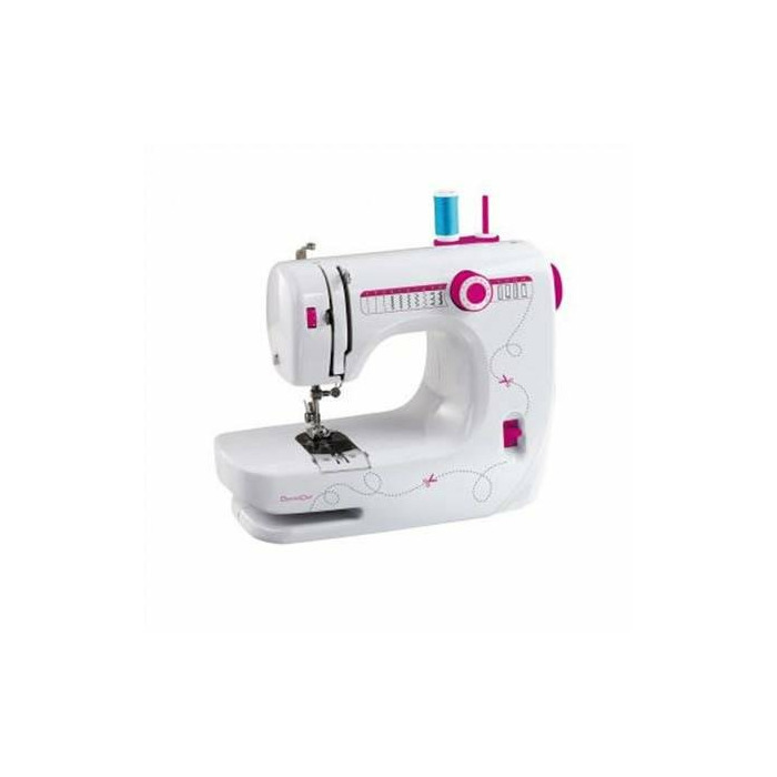 DomoClip DOM343 Sewing machine, 14 build in patterns, LED lig, Free arm, Automatic threading function, White