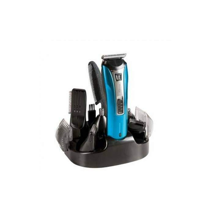 DomoClip DOS106 Rechargeable multifunctional hair clipper, Stainless steel blades, Black/Blue