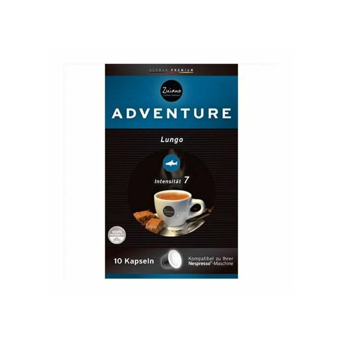 Zuiano Adventure 10 capsules, Germany, Coffee, 53 g