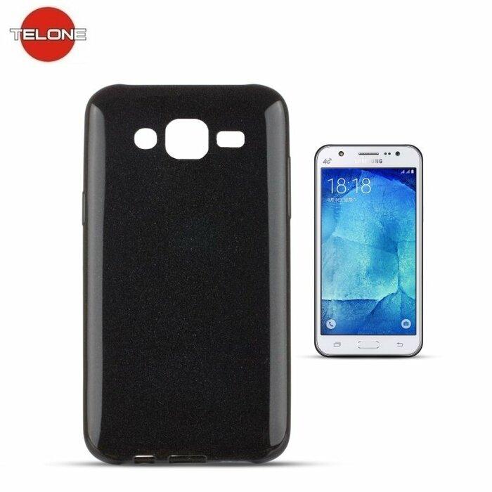 Telone Candy Ultra Slim 0.3mm Shine Jelly Back Case Samsung J500F Galaxy J5 Black
