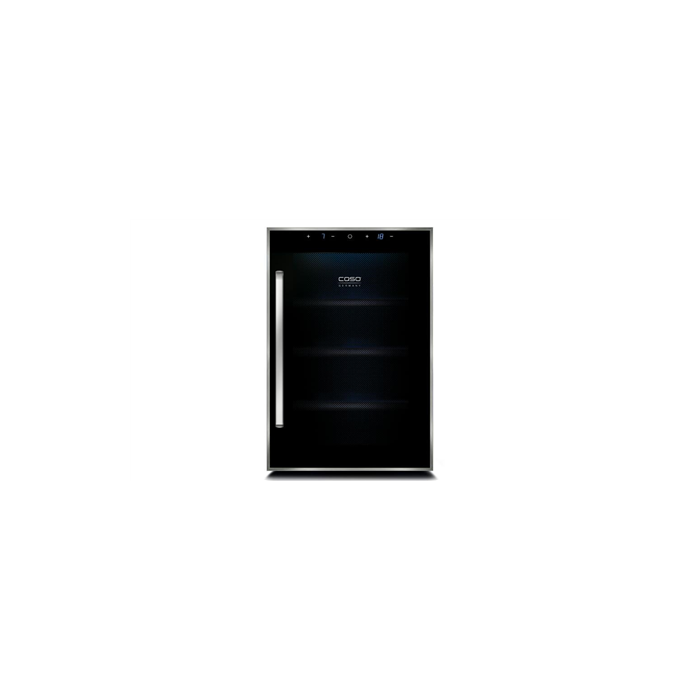 Caso Wine cooler WineDuett Touch 12 Free standing, Bottles capacity Up to 12 bottles, Cooling type Peltier technology, Black