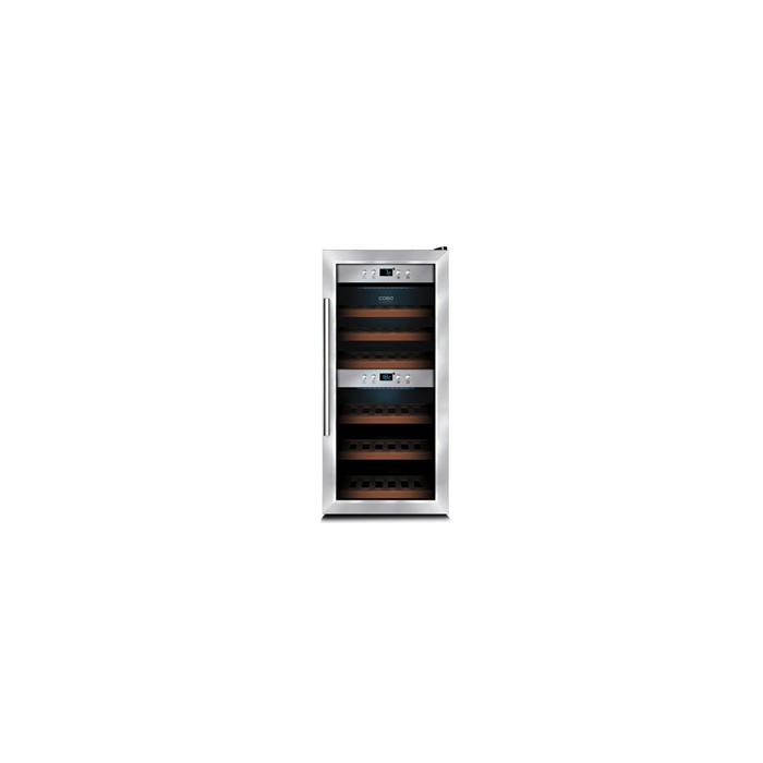 Caso Wine cooler WineComfort 24 Free standing, Bottles capacity Up to 24 bottles, Cooling type Compressor technology, Silver