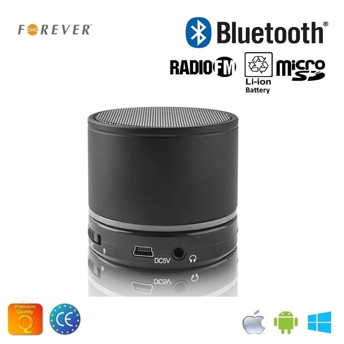 Forever BS-100 Bluetooth Speaker System with Micro SD / Radio / Aux / Phone Call Black