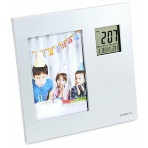 Omega OWSPF01 Digital Weather Station Indoor with Photo Frame / Thermometer / Calendar / Clock / Alarm Clock / LCD