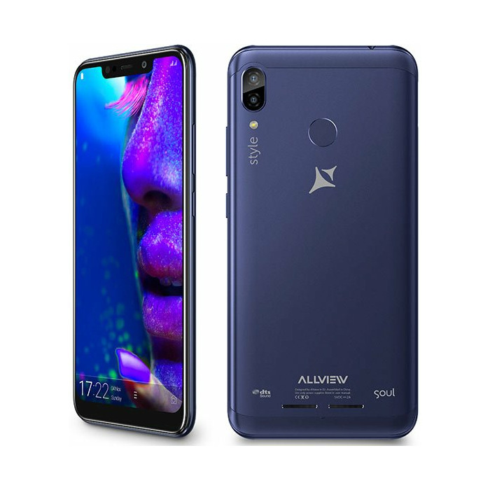 "Allview X5 Soul Style (Blue) Dual SIM 6.2"" IPS LCD 720x1500/2.0GHz/32GB/3GB RAM/Android 8.1/microSD/microUSB, WiFi, 4G, BT Allview"