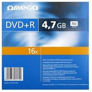 Omega Matrica DVD+R 4,7GB 16x Papildus Aizsardzība / Papīra iepakojums