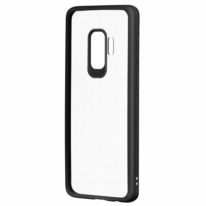 Devia Pure Style Silicone Back Case For Samsung G965 Galaxy S9 Plus  Transparent - Black
