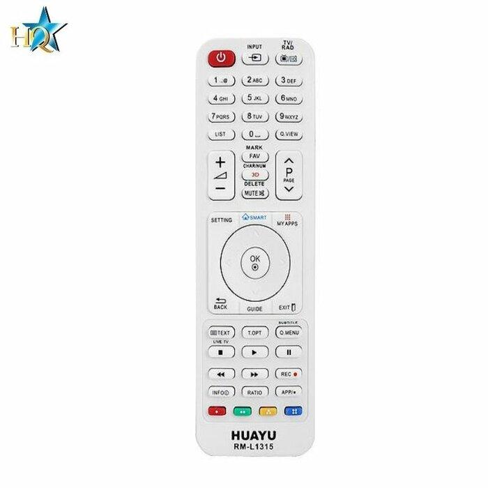 HQ LXP1315 Universal - Full function analog remote control for LG 3D TV  models RM-L1315 Black