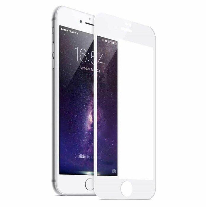 Mocco Full Glue 5D Tempered Glass Aizsargstikls Pilnam Ekrānam Apple iPhone 8 Plus Balts