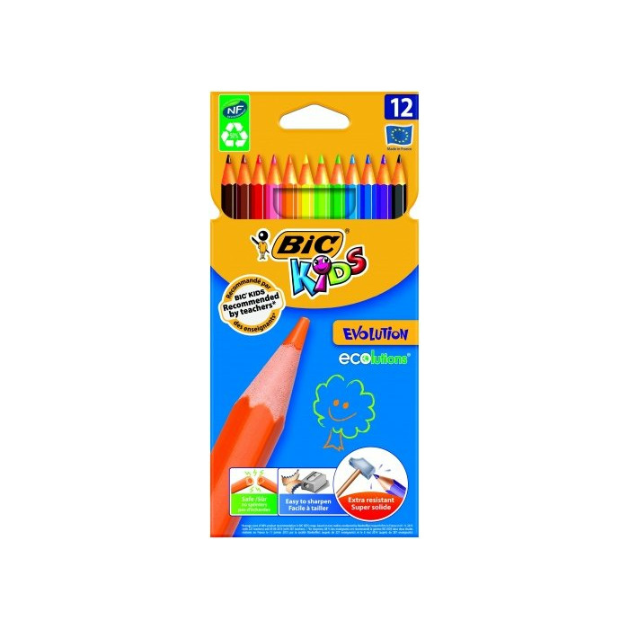 BIC Colored pencils KIDS EVOLUTION Pouch 12 pcs 8290291