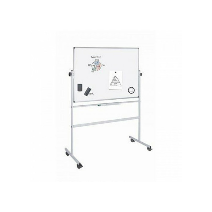 White board revolving double sidede magnetic 100 x 200 cm B Grade