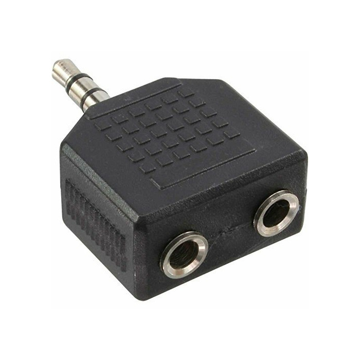 Blackmoon (11104) Adapters 3,5mm stereo spraudnis 2x3,5mm