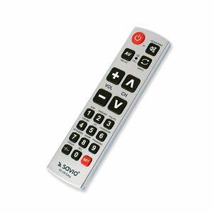 Savio RC-04 EASY Universāla TV Pults Sudraba