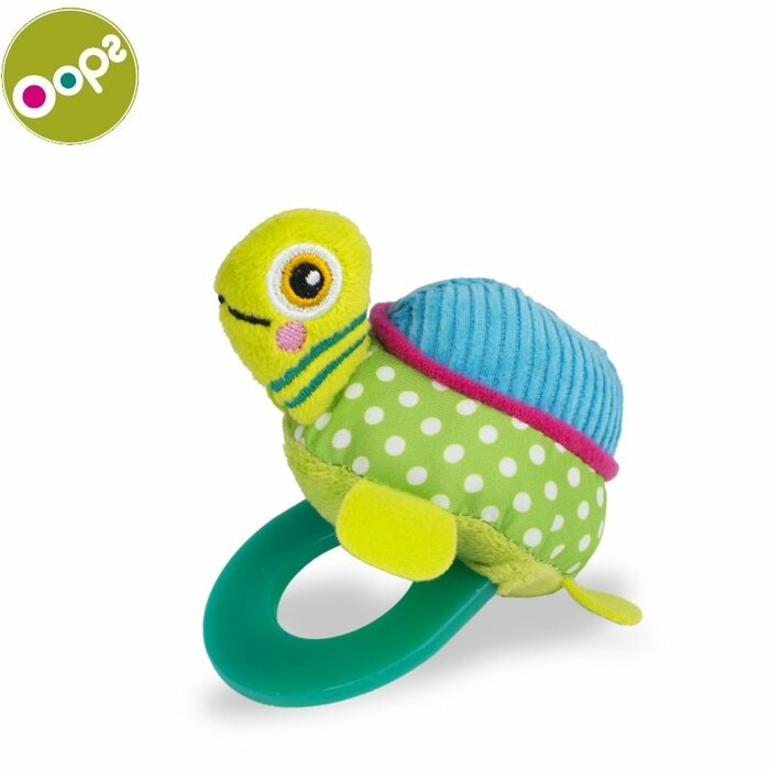 Oops Turtle Teething soft Toy for kids from 3m+ (17x4x12cm) Colorful 13007.23