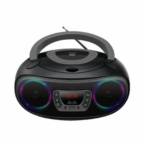 Denver TCL-212BT GREY CD player Portable CD player Black, Grey