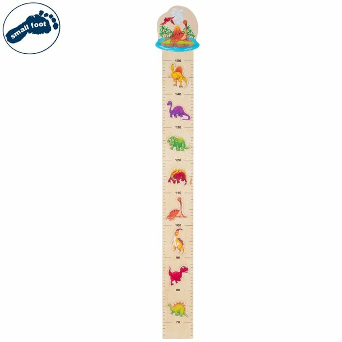 Small Foot 11225 Eco Wooden Measuring staff with Dinosaurs (95cm)