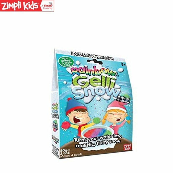 Zimpli Kids Gelli Snow Цветные порошки для создания Желе в виде снега детям от 3 лет + (Упак. 80гр.)
