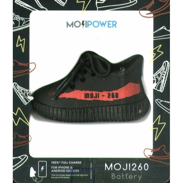 MojiPower Sneaker 260 Power Banka Universāla Ārējas uzlādes Baterija 1А / USB / 2600 mAh Melna