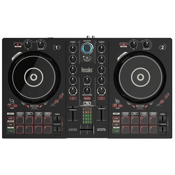 Hercules DJControl Inpulse 300 Digital Vinyl System (DVS) scratcher Black