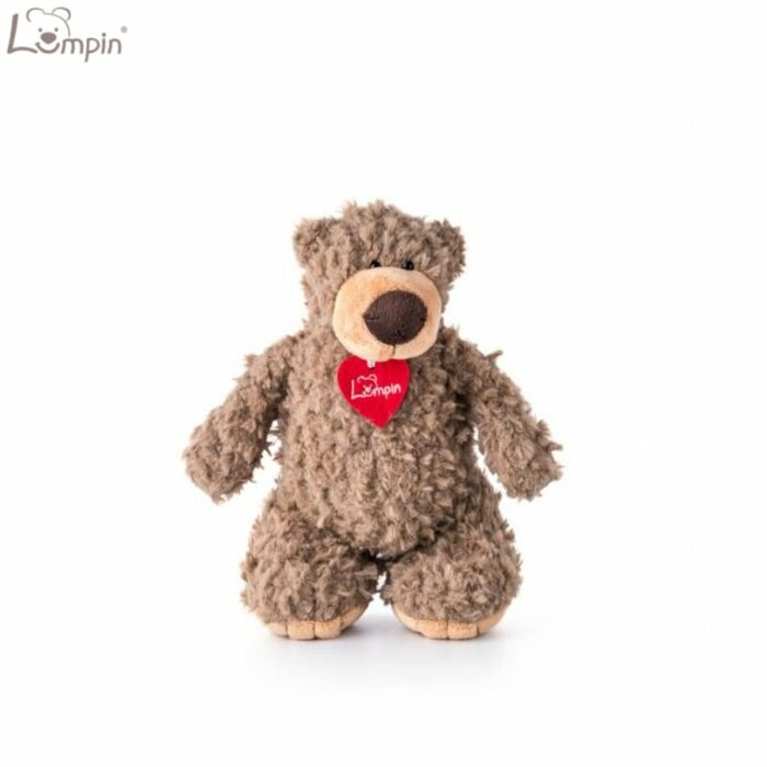 Lumpin 94009 Soft toy Denis bear with ribbon for kids 0+ years (small size 30cm)
