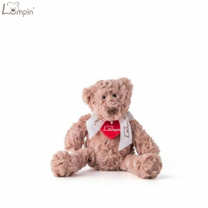 Lumpin 94029 Soft toy Bear with ribbon for kids 0+ years (mini size 23cm)