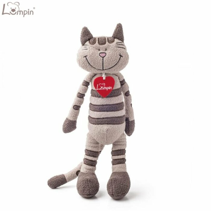 Lumpin 94034 Soft toy Angelique cat for kids 0+ years (medium size 43cm)