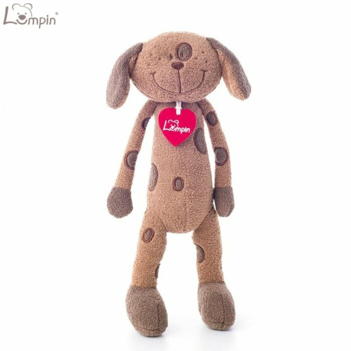 Lumpin 94036 Soft toy Benny dog for kids 0+ years (medium size 43cm)