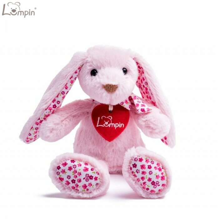 Lumpin 94115 Soft toy Stella pink rabbit for kids 0+ years (small size 23cm)