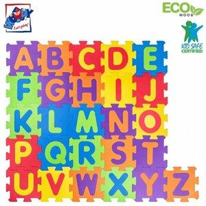 """Plastica 91628 EVA Putu Puzluveidīgs grīdas paklājs """"Alfabēts"""" (52gab.) bērniem no 1+ gada Krāsains"""