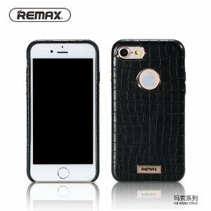 Remax Maso Čūskas ādas Dizaina 1mm Anti-Shock Ciets Maks-Apvalks Apple iPhone 7 (4.7 inch) Melns