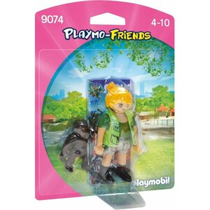 Playmobil 9074 Collectable Playmo-Friends Zookeeper with Baby Gorilla
