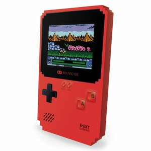 My Arcade Pixel Classic portable game console Black, Red