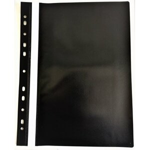 Perforated A4 Report File AD Class 100/150 black 25pcs./pack.