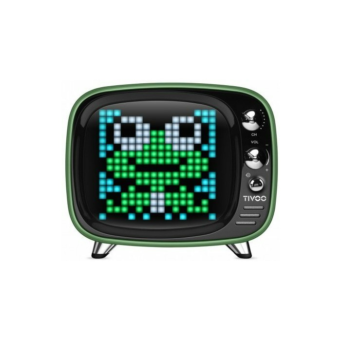 Divoom Tivoo Bluetooth 5 0 Portable Speaker With 8 bit Display / Alarm /  Application / Social / Thermometer Green