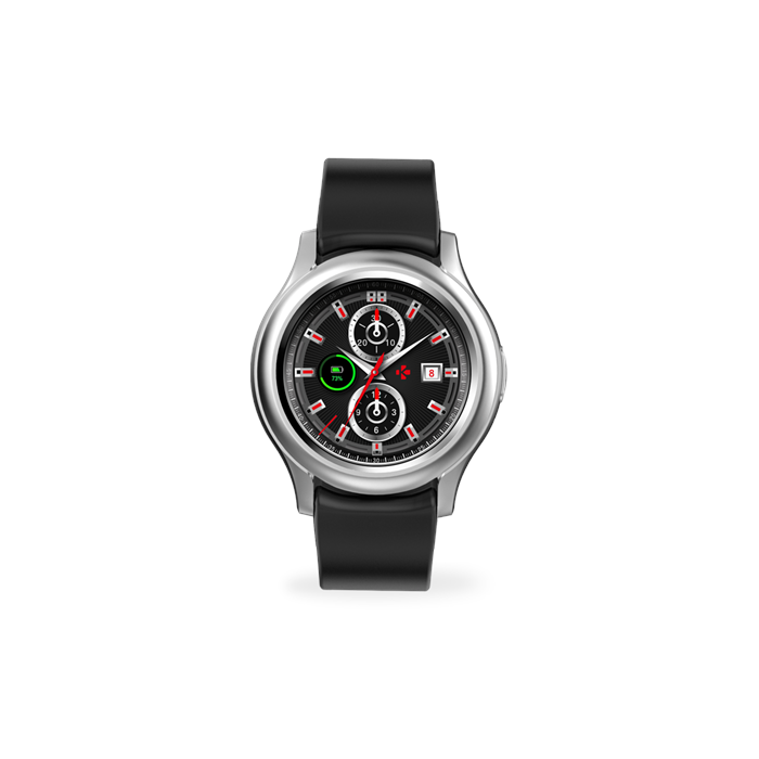 MyKronoz Smartwatch Zeround 3  Silver/ black, 350 mAh, Touchscreen, Bluetooth, Heart rate monitor, Waterproof, IP67 m