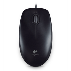 Logitech Mouse B100 Wired, Black