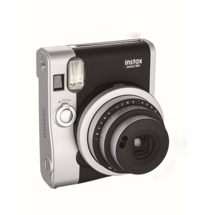 Fujifilm instax mini 90 NEO CLASSIC instant print camera 62 x 46 mm Black, Stainless steel